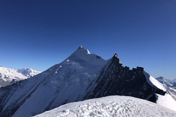 Arête Nord du Weisshorn, plus haut sommet 100% Valaisan