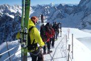 Arête aiguille du midi ski