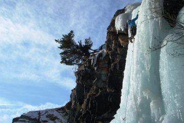 cascade de glace Saint-Gervais les bains