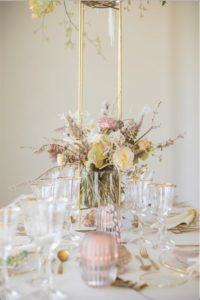 Bouquet Table mariage pastel