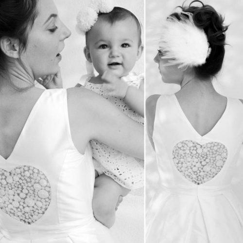 Portrait d'isabelle'm, créatrice des robes de mariée Gueule d'Ange