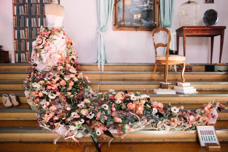 Deco entrée Bouvard Fleurs Salon Mariage Genève 2016