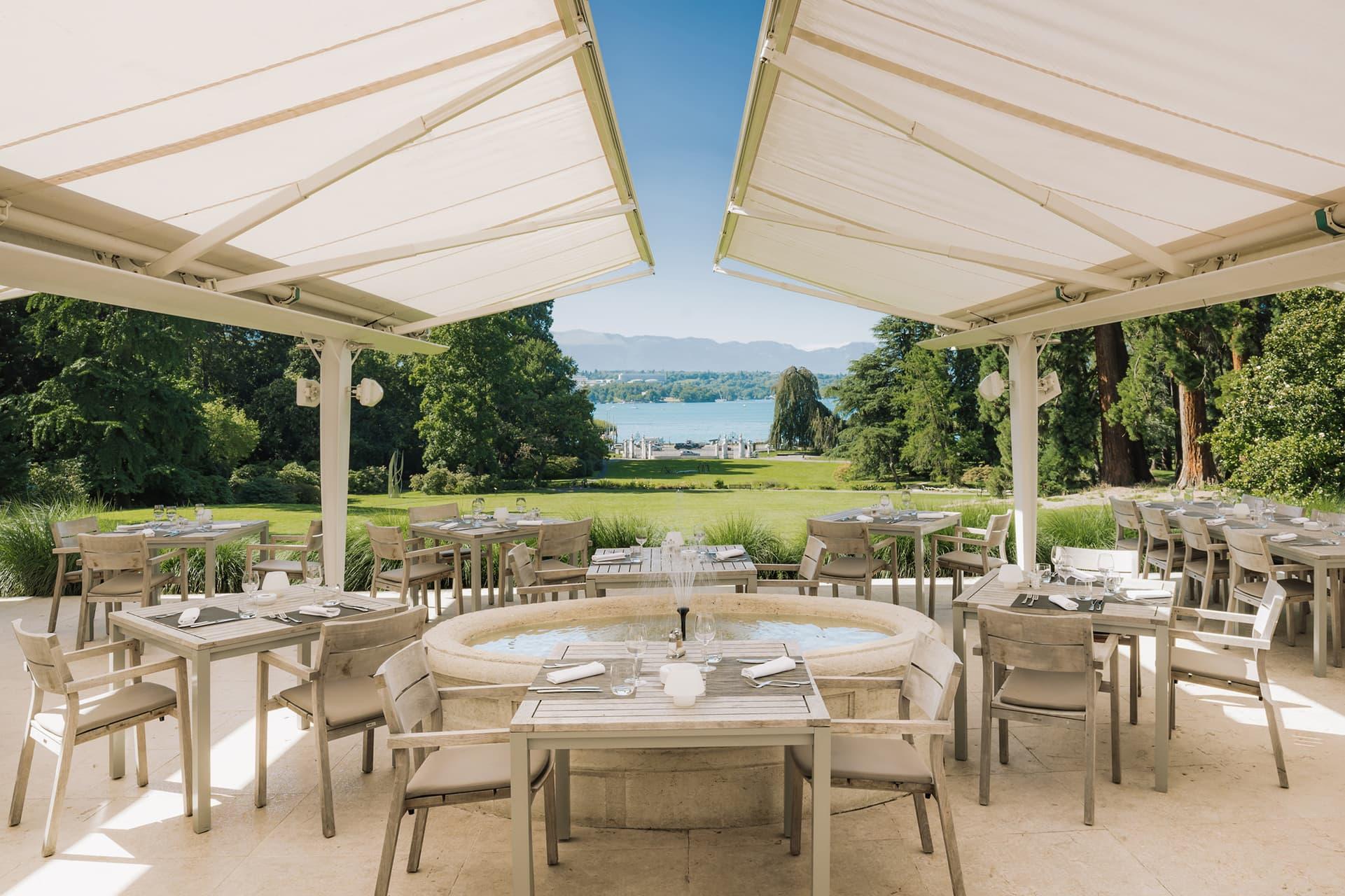 Terrasse Restaurant parc des Eaux Vives